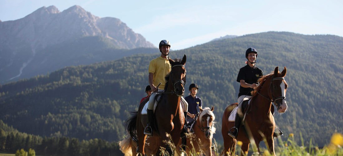 Horse riding – across mountain pastures on Haflingers